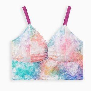 🆕 White Tie Dye Lace Bralette 1X 14 16 NWT Torrid